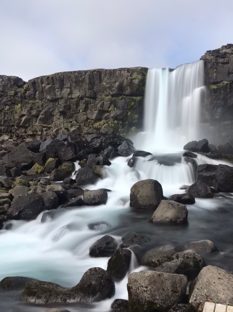 Þingvellir waterfall long exposure - 38 photos of iceland from the Wandering darlings